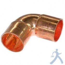 Codo Cobre Sold 90 1/4 Ctp-C014