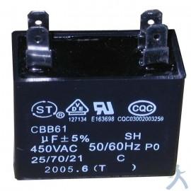 Capacitor 2.5 Mfd Uf 450v
