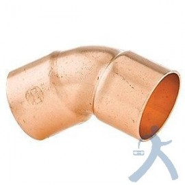 Codo Cobre Sold 45 1-3/8 Ctp-C13845